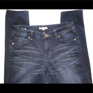 cabi dark denim wash skinny jeans size 8